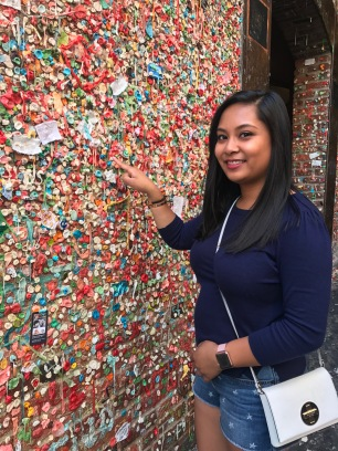 Added my DNA to the Gum Wall